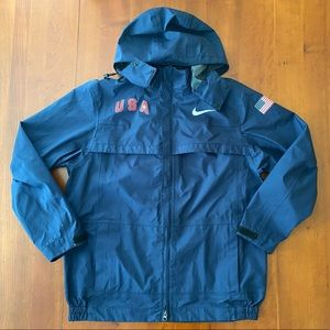 Nike Team USA Track & Field Olympics Blue Jacket